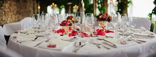 elegant table decoration for special events