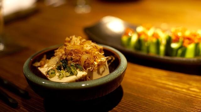Mushrooms & Fried Tofu