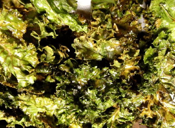 Sunflower-Coated Cheesy Kale Chips
