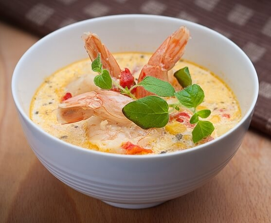 Cambodian Coconut Shrimp Soup