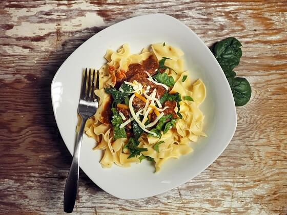 Pasta with Spinach, Artichokes and Ricotta